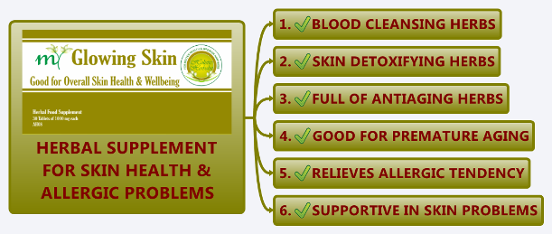 Herbal Supplement for Skin Health, Acne, Allergy and Blood Detox